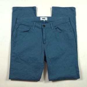 Paige Normandie Slim Straight 32 X 32 Blue Pants